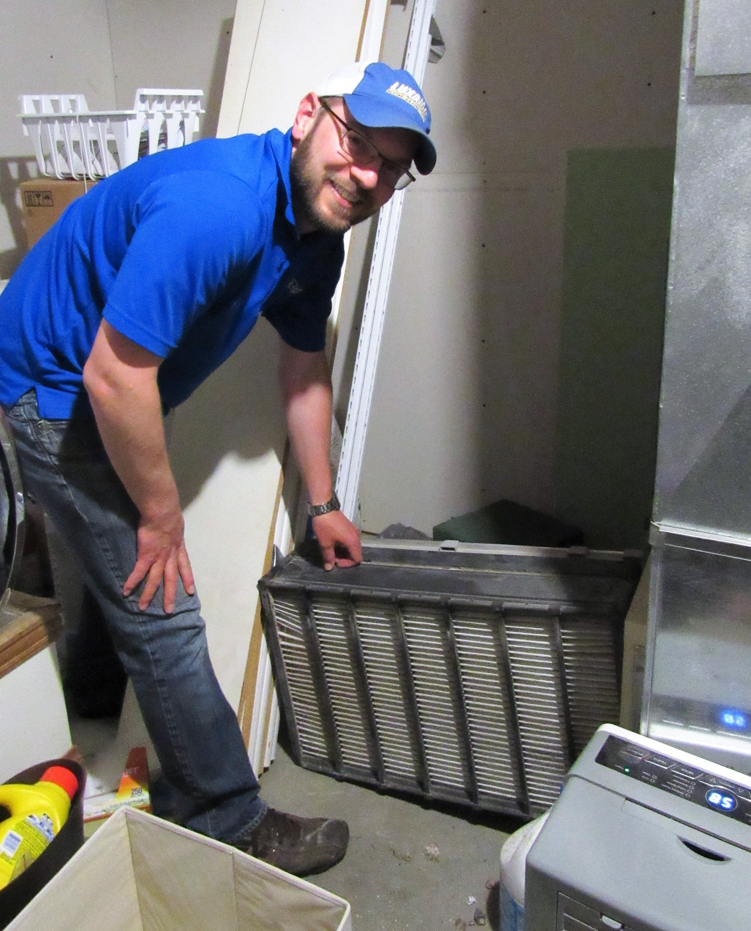 Thanks to Nick Schulz or Schulz Heating and Cooling in Antigo for rescuing us when our dryer died and the air filters needed to be changed all on the day the interns arrived. Thanks Nick! You rock!