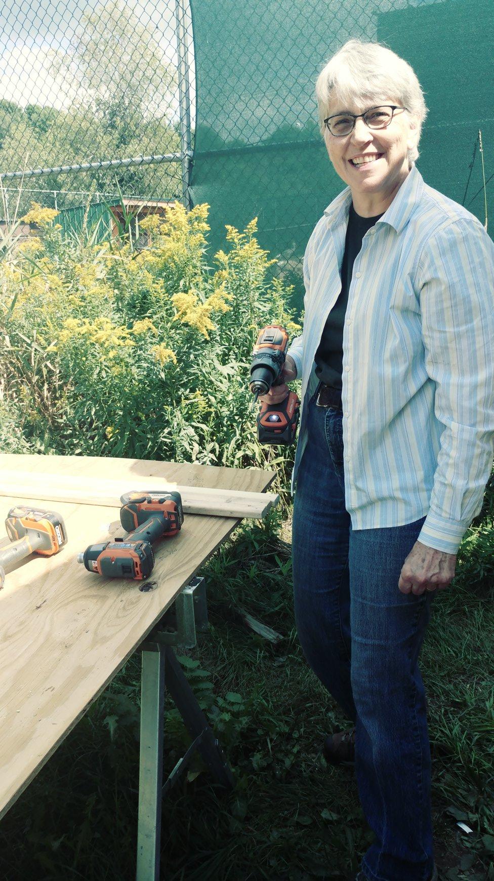 Margaret Getzin swings a mean drill!:)