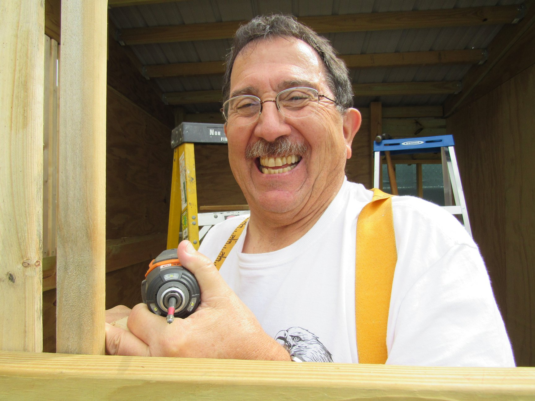 """Greg Toon has volunteered for REGI for many years and is our go to everything guy! Multi talented means he """"gets"""" to see us often as he volunteers on Tuesday and Thursday. He drives 1.5 hr each way to help us! Bravo to this amazing man!"""