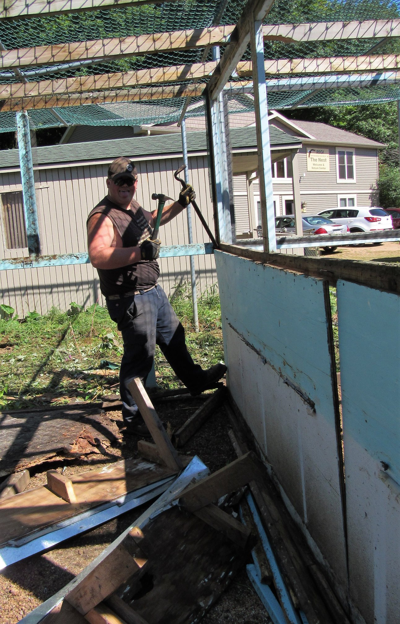 Hunter Petroskey loves demolition! Lucky us!