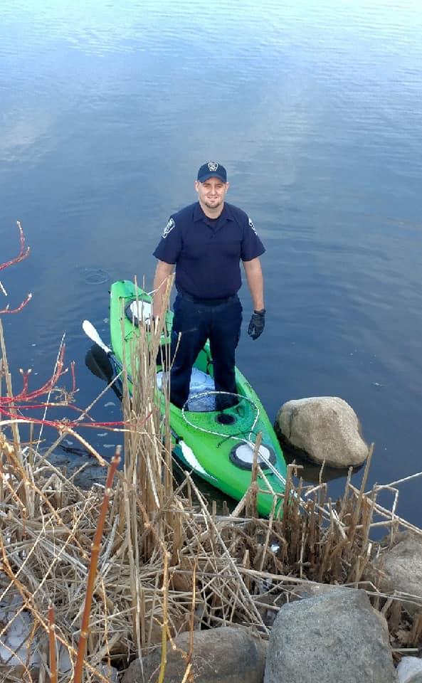 Wildlife hero City of Antigo Police Officer, Patrolman Kyle Schlling.