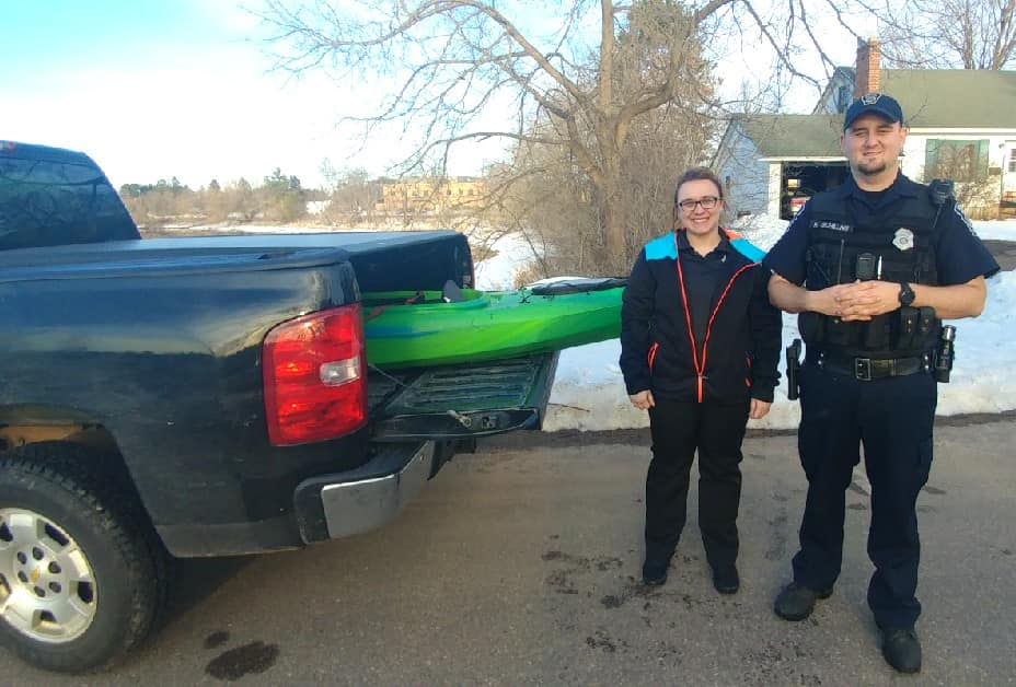 Our thanks to Dispatcher Lindsey Steger for getting her kayak after her shift ended.