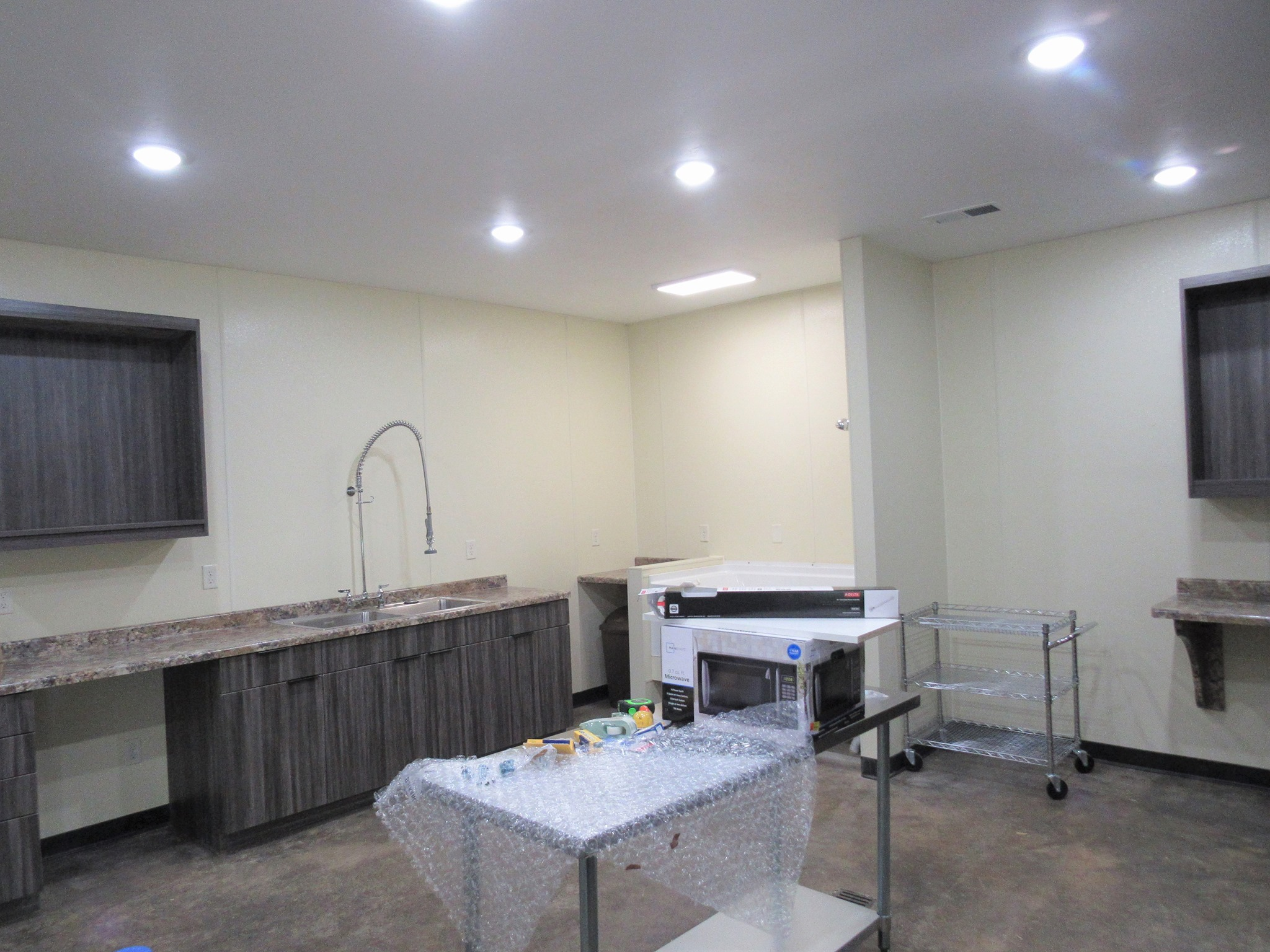 A peek at our new exam room!!! We cannot wait to move in!
