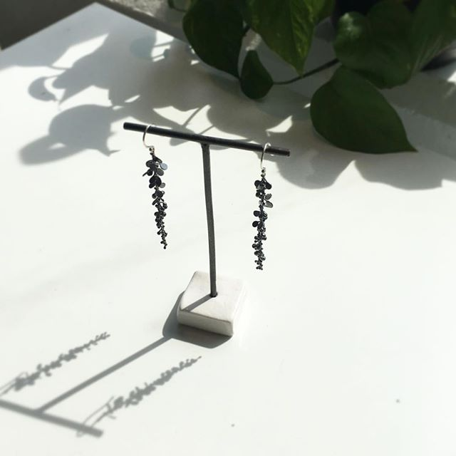 The shadows are just as good. Botanical drops in the shop, each piece meticulously made in oxidized silver. #megbyhand