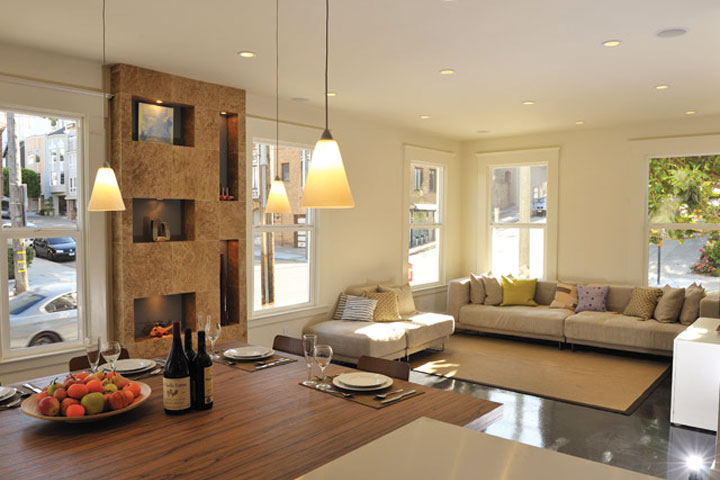 Pierce Street - San Francisco   Total interior reconfiguration of the luxury 6-unit residential. High-end specifications and contemporary style. Open floor plan.
