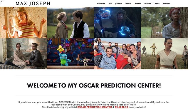 If you know me, you know that I am OBSESSED with the Academy Awards (aka, the Oscars). Like, beyond obsessed. And if you know I'm obsessed with the Oscars, you probably know I love making lists even more. So… I'm introducing my official OSCAR PREDICTION CENTER & FILM BLOG on my website!  My Oscar Prediction Center is where I'll keep an updated list of my current predictions for the upcoming Oscar season. I'll give my top 5 picks (top 10 for Best Picture) for what I think will be on the final ballot, and another 5 picks for what will be the Next In Line… I'll also post The Big Snub That Should Make It… which will be my opinion on a nominee that doesn't really have a chance of getting a nomination, but absolutely should.  My Film Blog is where I'll post occasional reviews, reactions, lists, and thoughts on recent trailers and news!  You can find both of these tabs at the very bottom of my website!  I started this list the day after this years Academy Awards, and have been updating it weekly. But instead of just putting my predictions on my personal Notes which nobody sees, I've decided to publish them! If you're wondering how accurate I am with my predictions… my Way Too Early Oscar Ballot for the 91st Academy Awards last year had an average of 2.5 out of the 5 nominees who ended up on the final ballot.  So if you're a fellow Oscar pundit, be sure to check this page weekly!