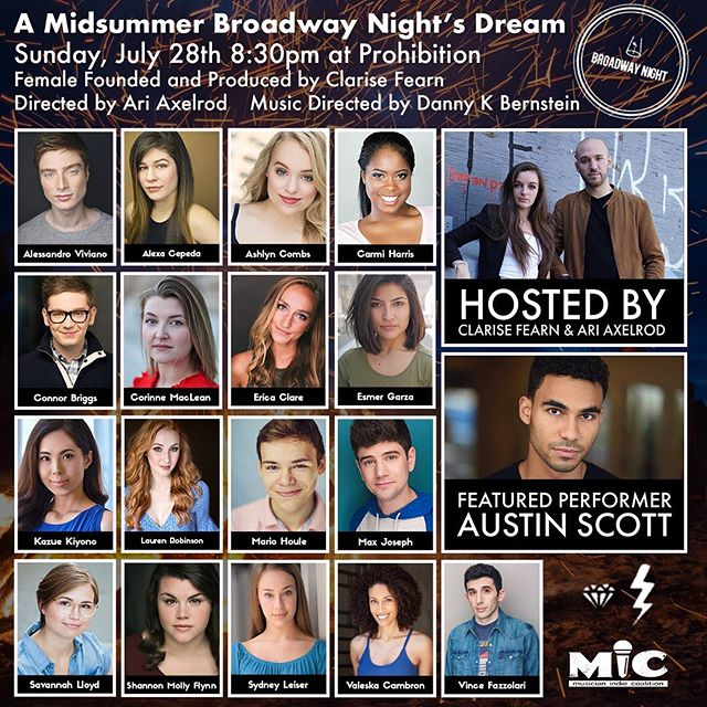 Next Sunday! Can't wait!! I love @broadwaynightnyc a whole lot!! #BroadwayNightNYC