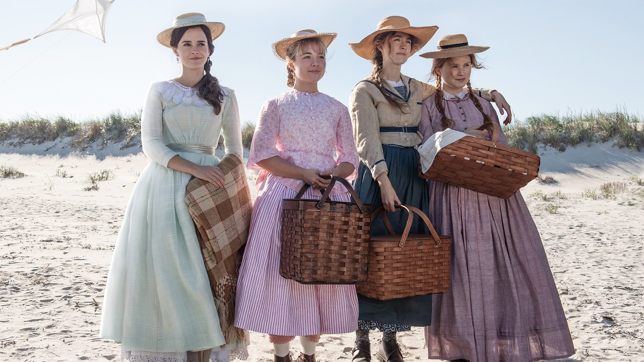 Little Women  From left to right: Emma Watson as Meg,  Florence Pugh as Amy , Saoirse Ronan as Jo, and Eliza Scanlen as Beth