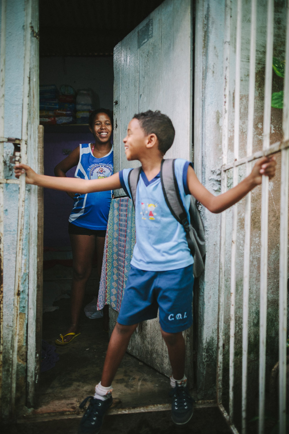 Before leaving home, he always turns to his mother and asks her blessing to keep him safe. Emidio's entire house (housing 4 people---soon to be 5) is perhaps no larger than 8 feet by 10 feet. This is Emidio's morning routine before heading to classes at the Compassion Center.
