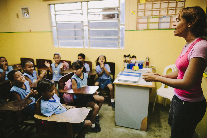 Emidio during classes at the Compassion Center.
