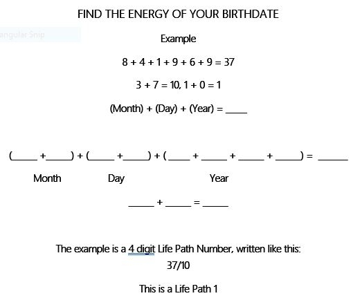 Find the Engery of you DOB or What is your Life Path.JPG