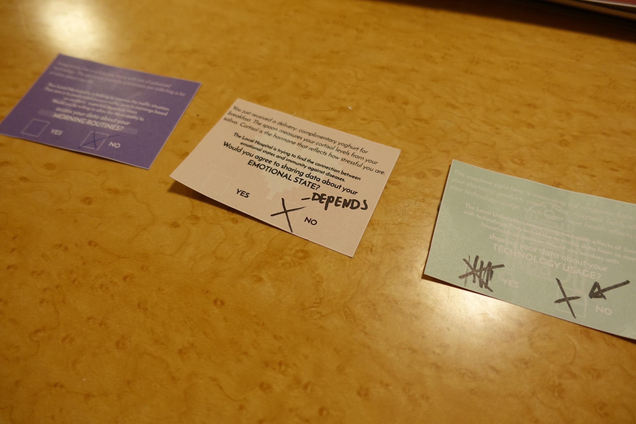 Poll cards