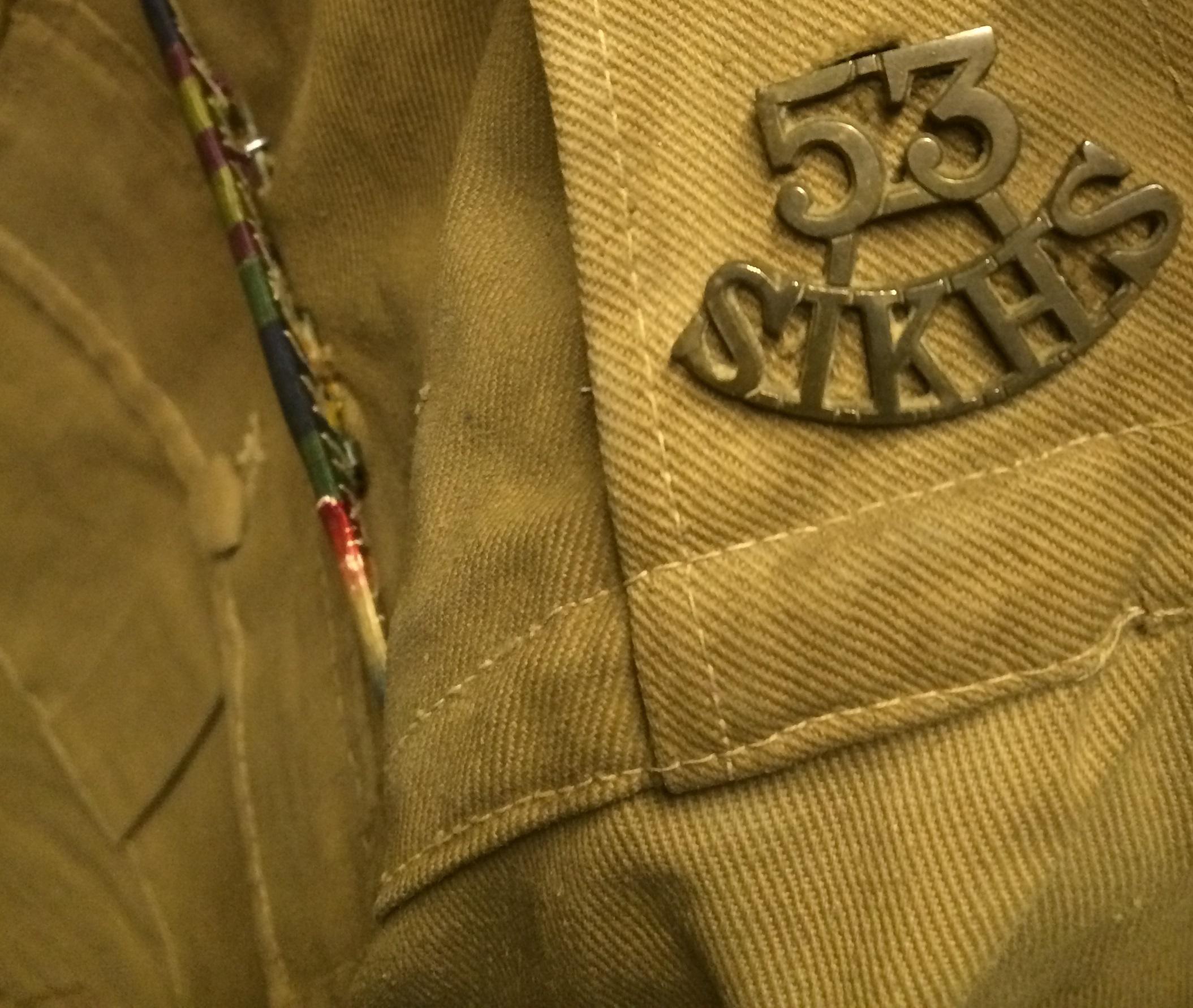 Arjan Singh's uniform (detail)