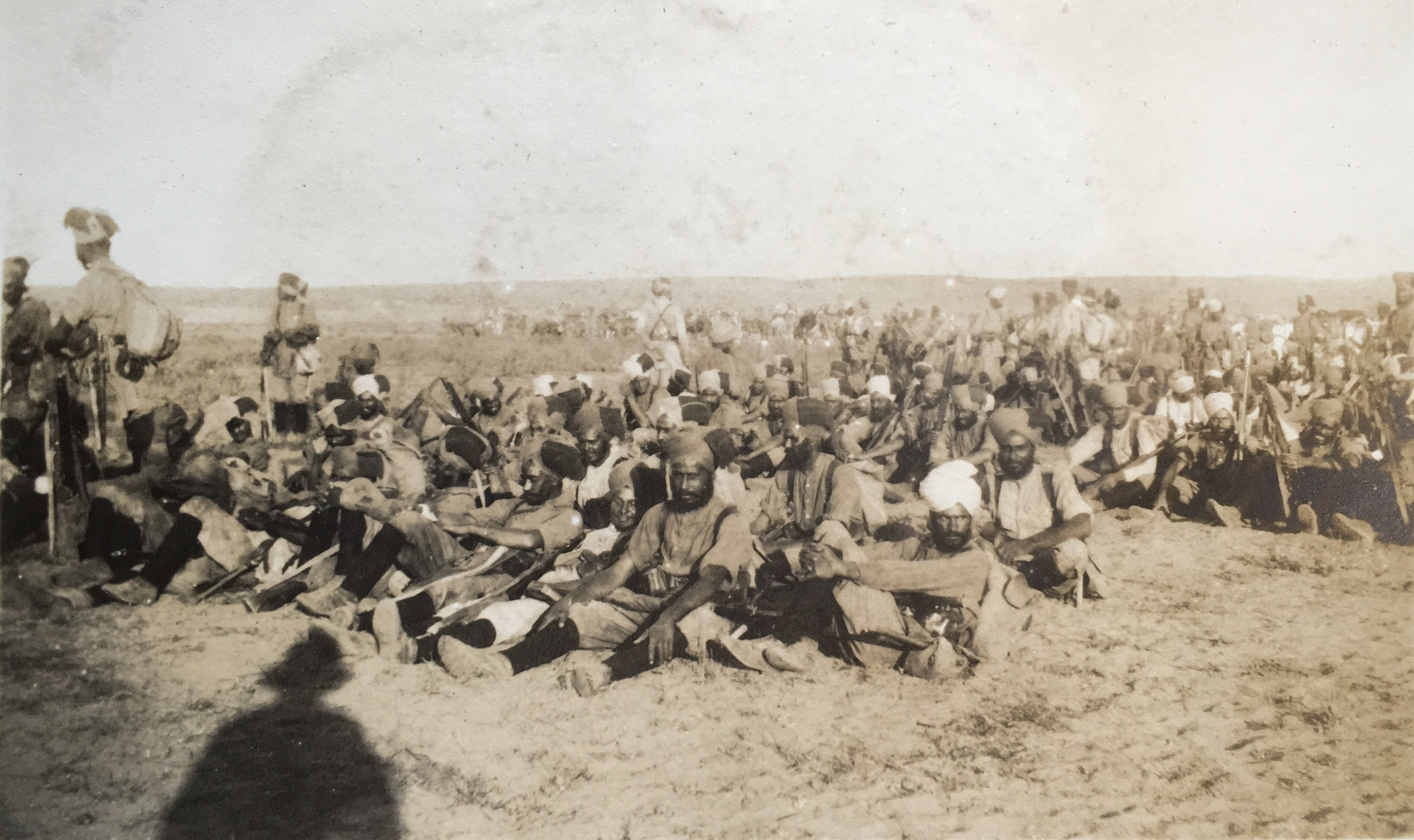 Men of the 53rd Sikhs in the Middle East