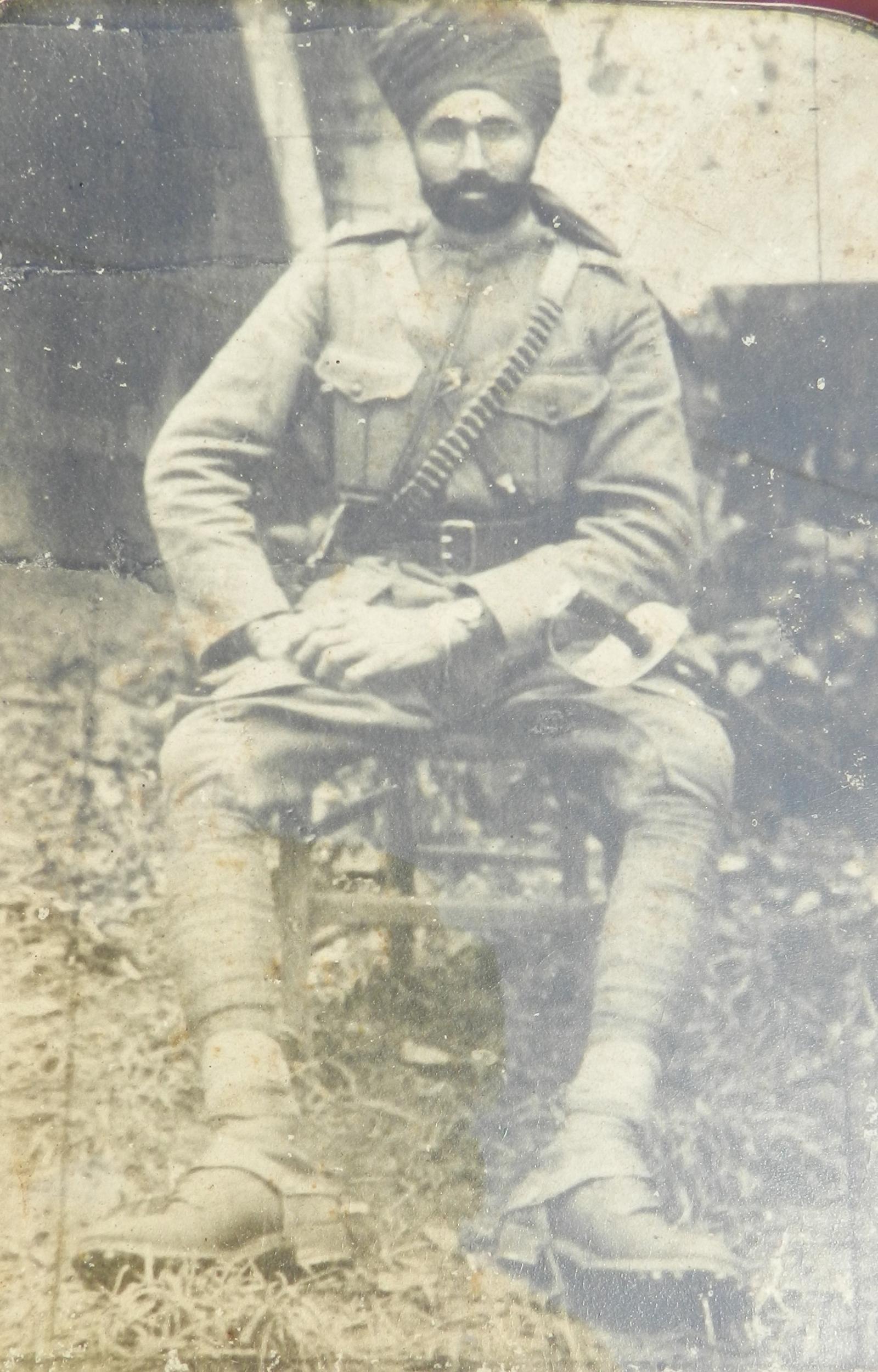 Jemadar Didan Singh in France, c. 1917