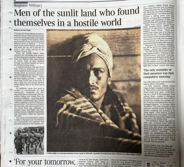 Newspapers — EMPIRE, FAITH & WAR