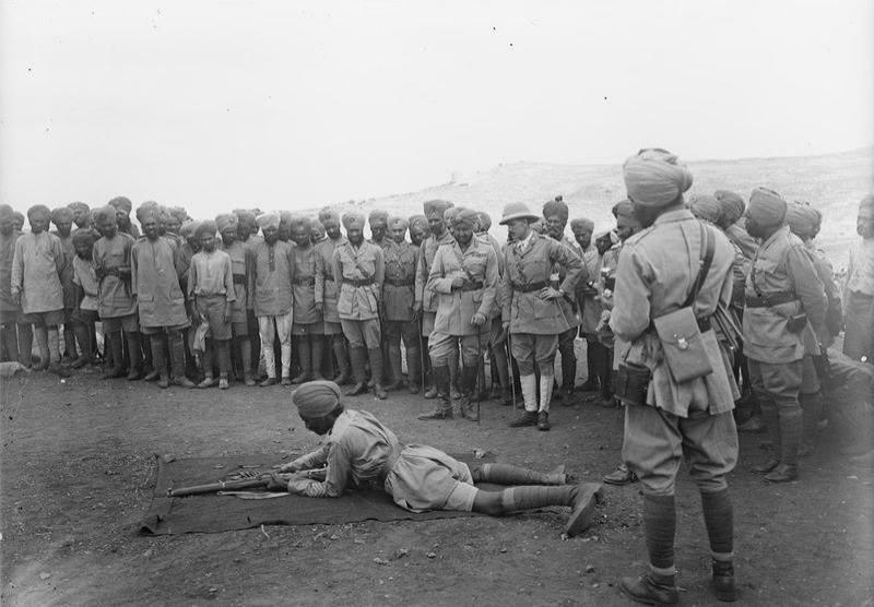 Rifle demo, Palestine, October 1918