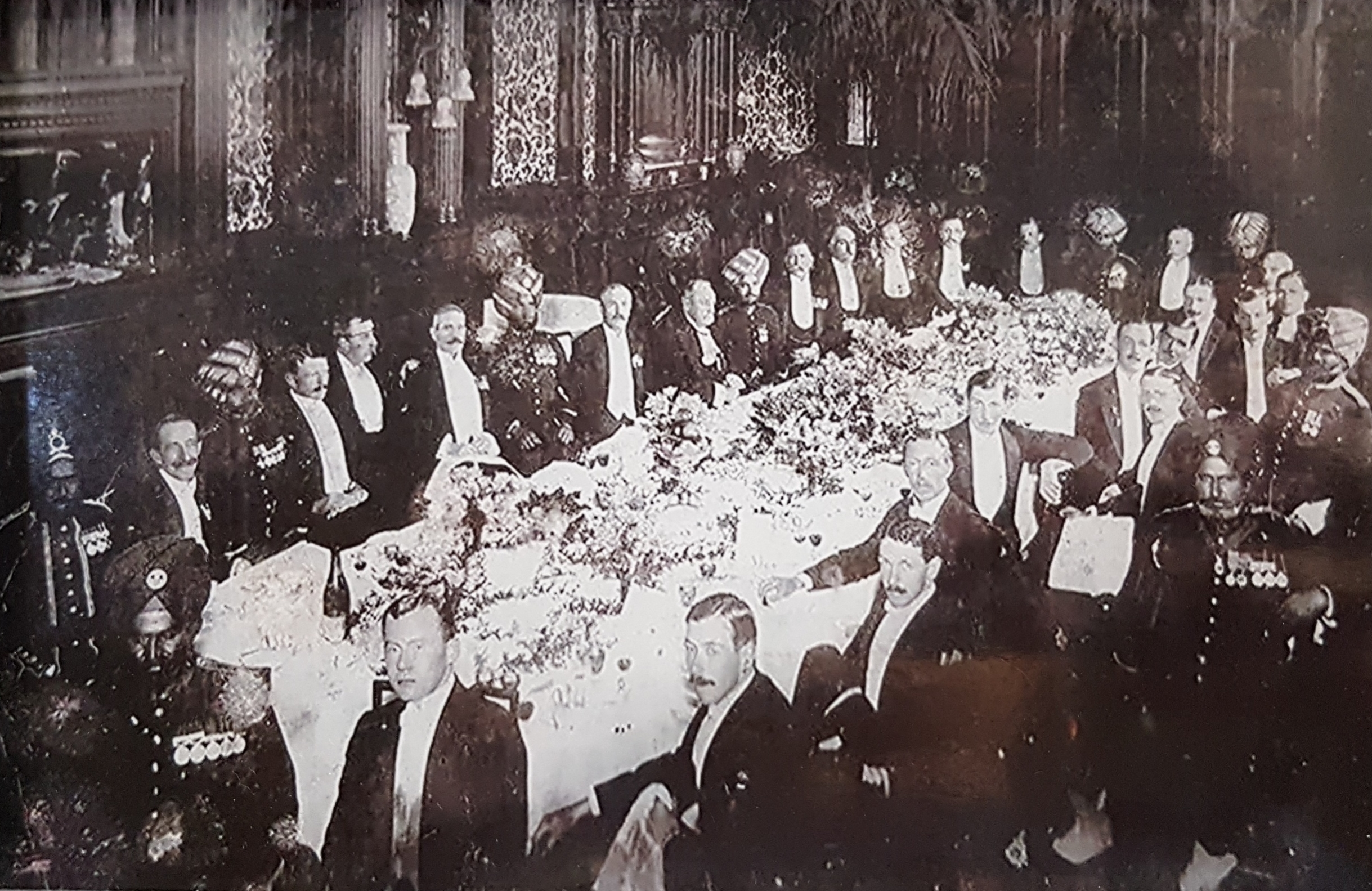 Regimental dinner, England, 1911