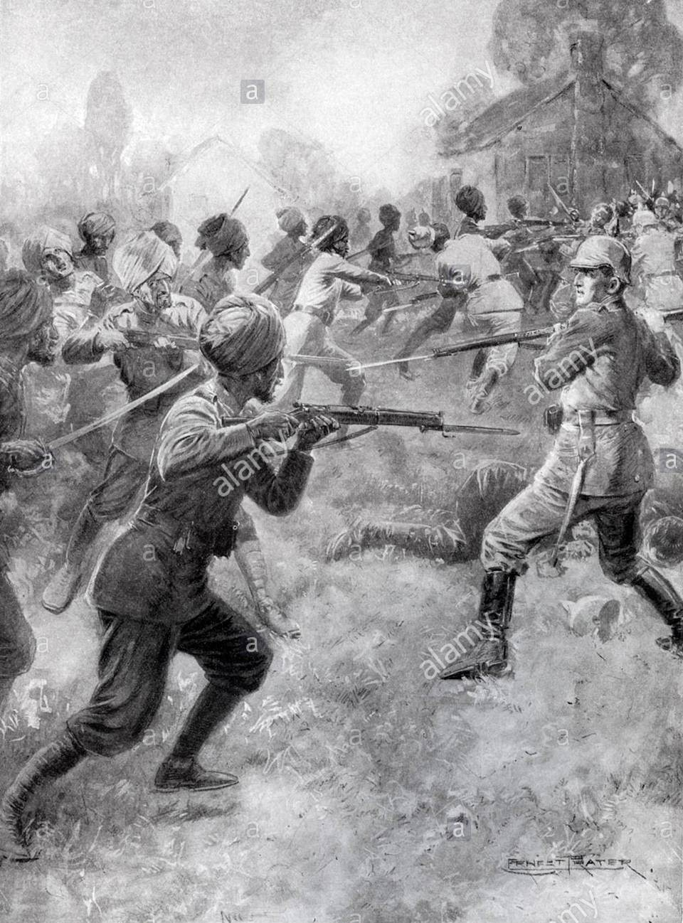 58th Vaughan's Rifles on the attack