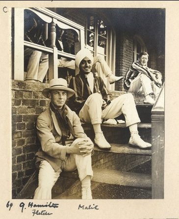 Sitting with students, Oxford 1914