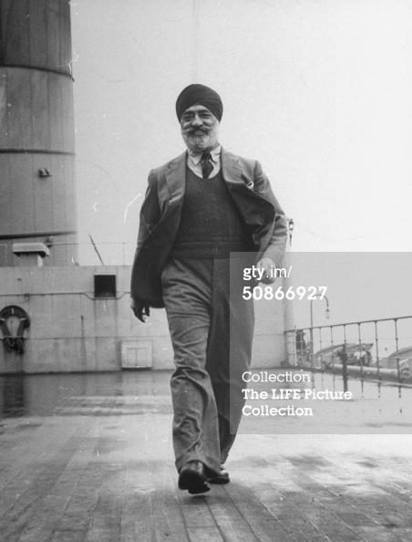 Walking on deck, c. 1946