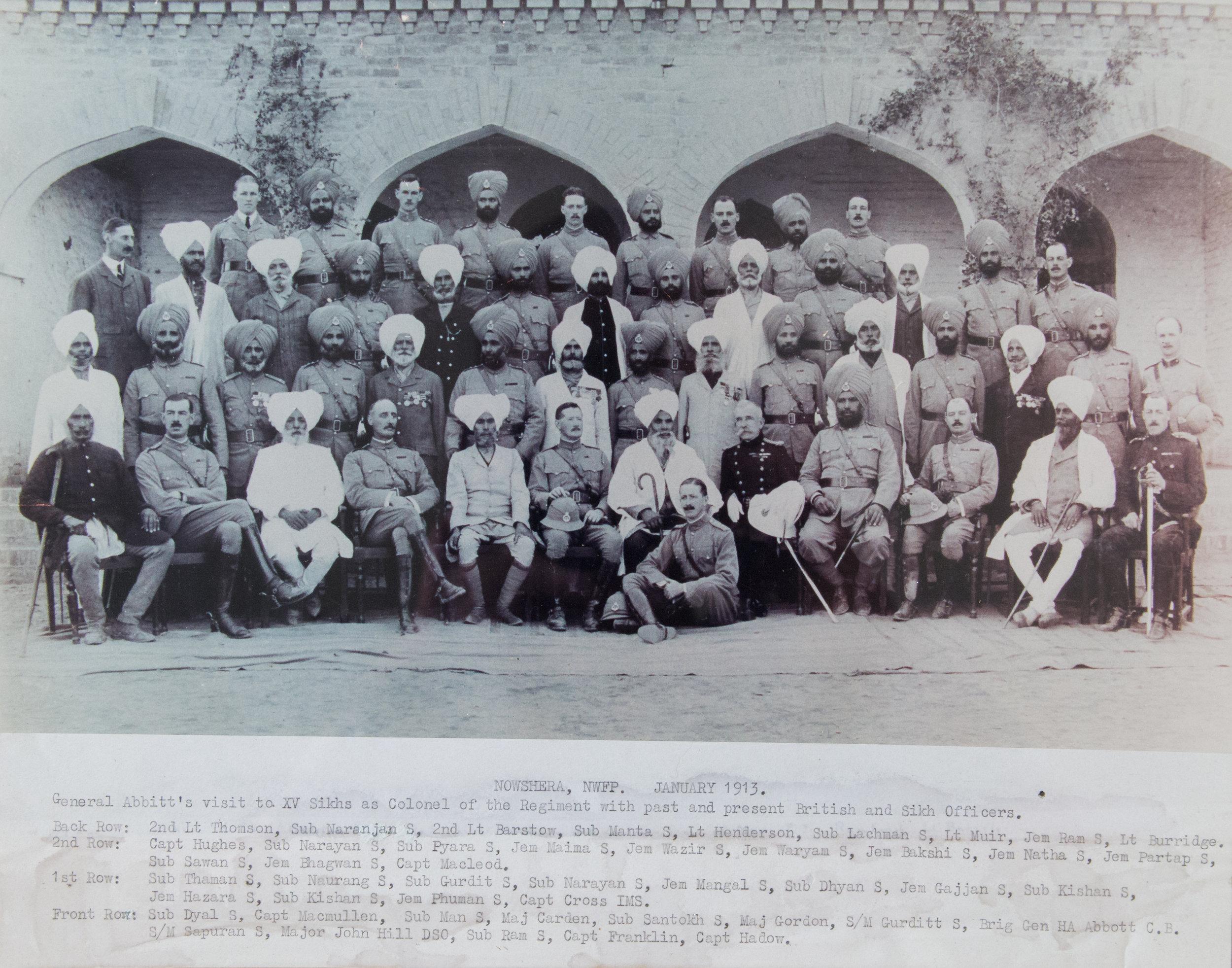 The 15th Ludhiana Sikhs, January 1913