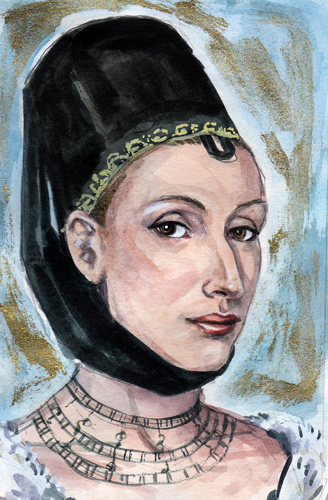 A preparatory sketch of Eleanor by Mark Satchwill