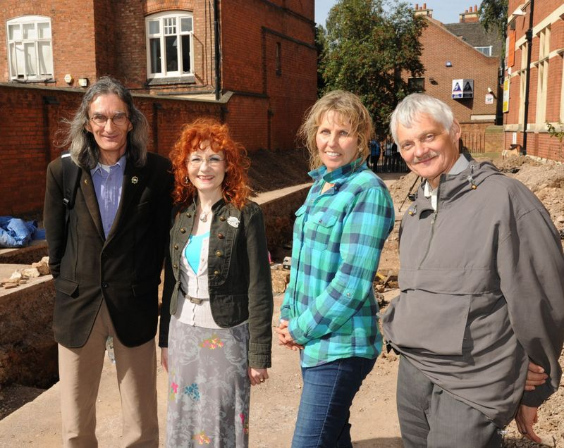 David and Wendy Johnson, Philippa Langley and John Ashdown-Hill – Picture @Philippa Langley