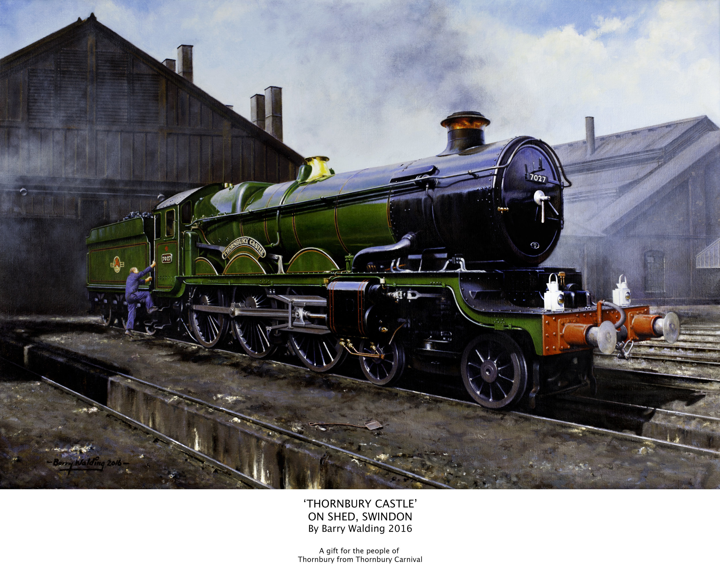 'Thornbury Castle on Shed, Swindon' by Barry Walding