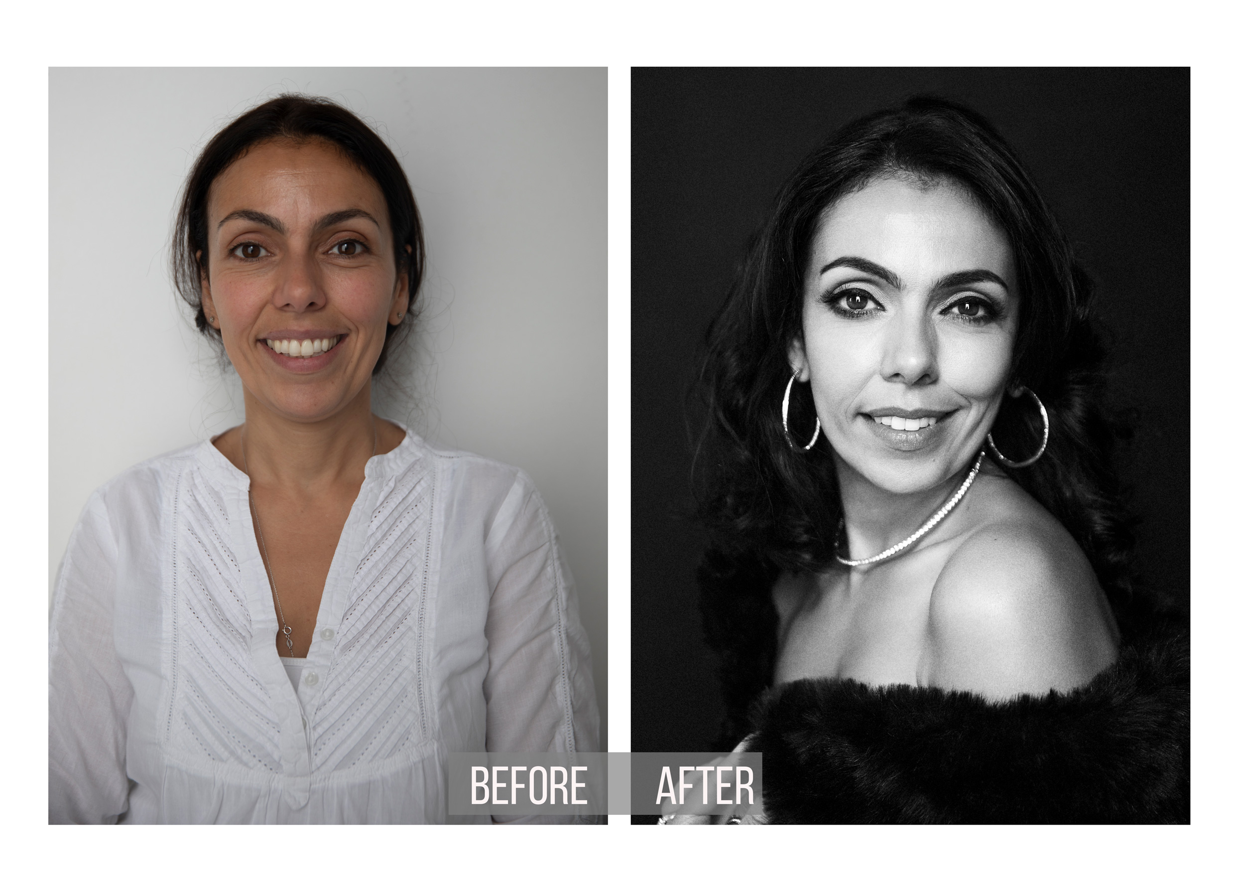 before and after transformation of a mom