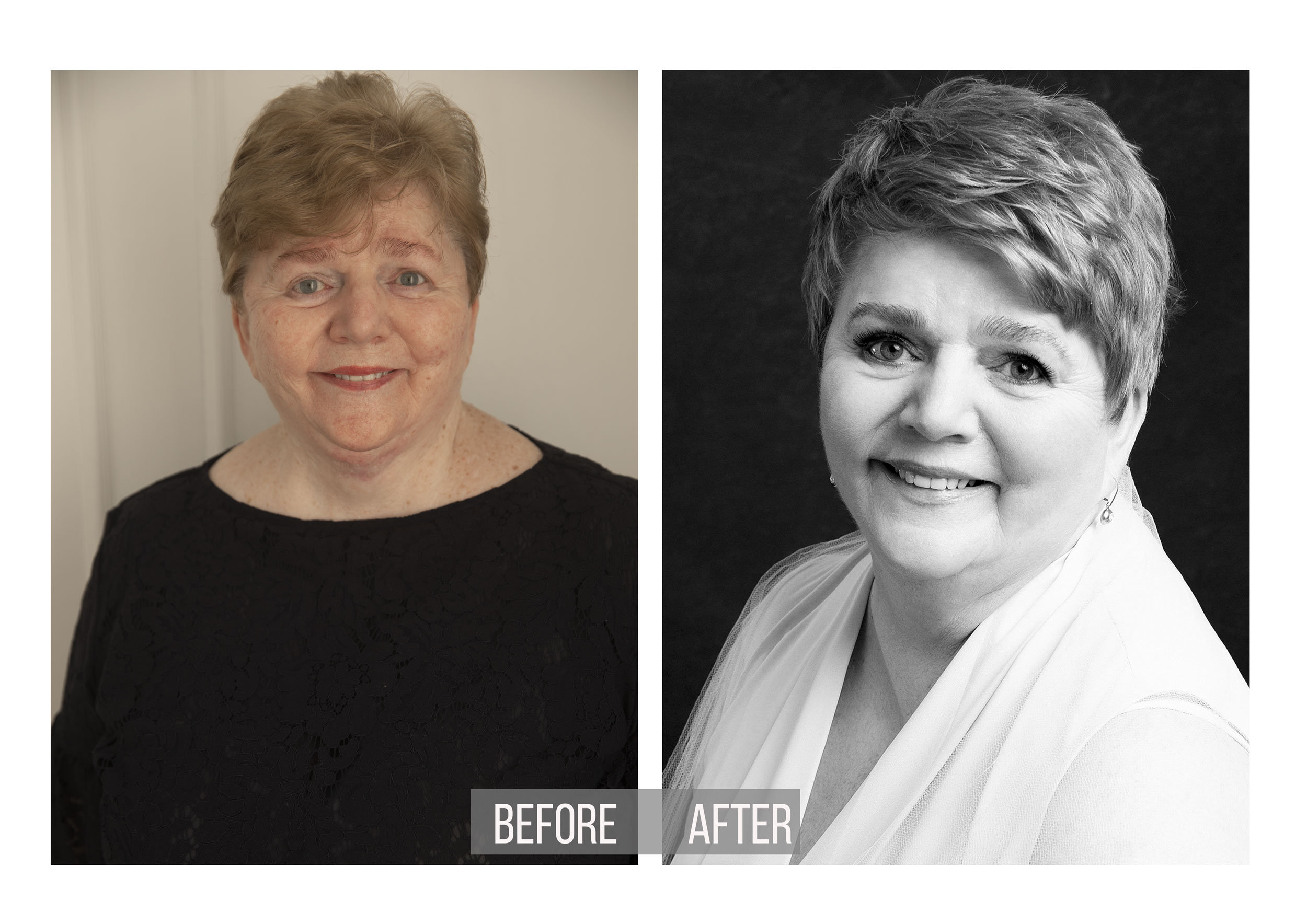 Glamour-black-white-transformation-beautiful-studio-portrait