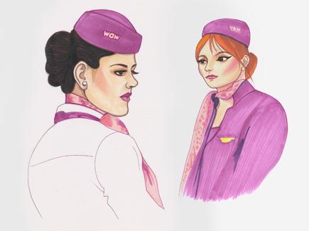 WOW Air flight attendants