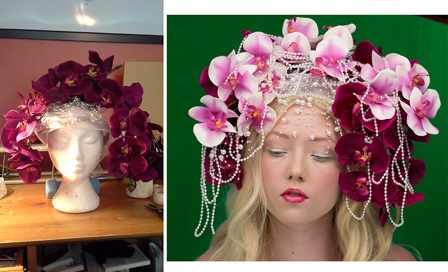 I made this headdress for the reference photoshoot!