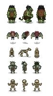 NPC mobs - troll, harpy, skullhound, cannibal, skeleton