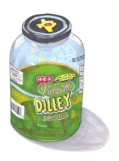 HEB dill gherkins