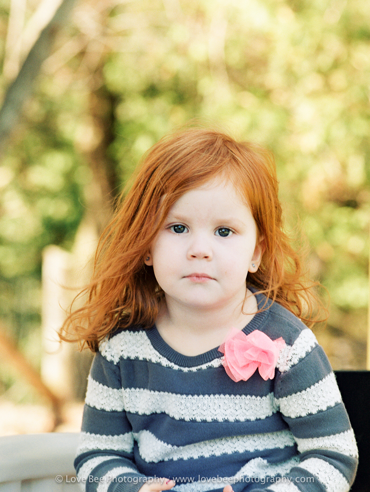 little redhead girl Portra 400