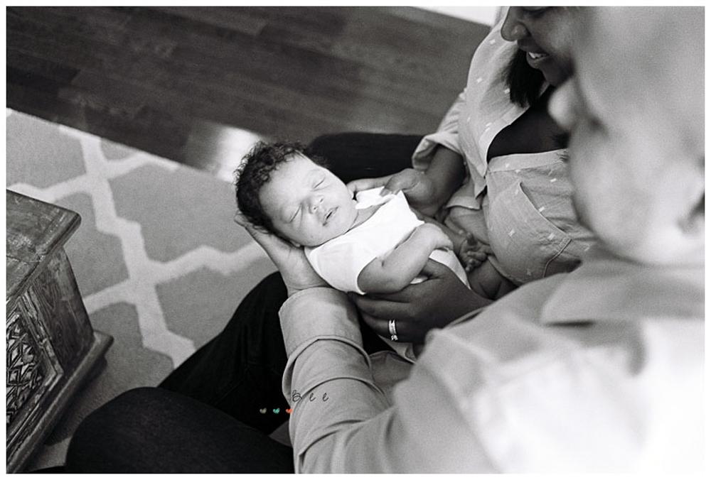 newborn baby Kodak Tri-x