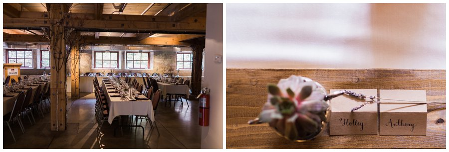 Alton Mill Wedding Reception basement