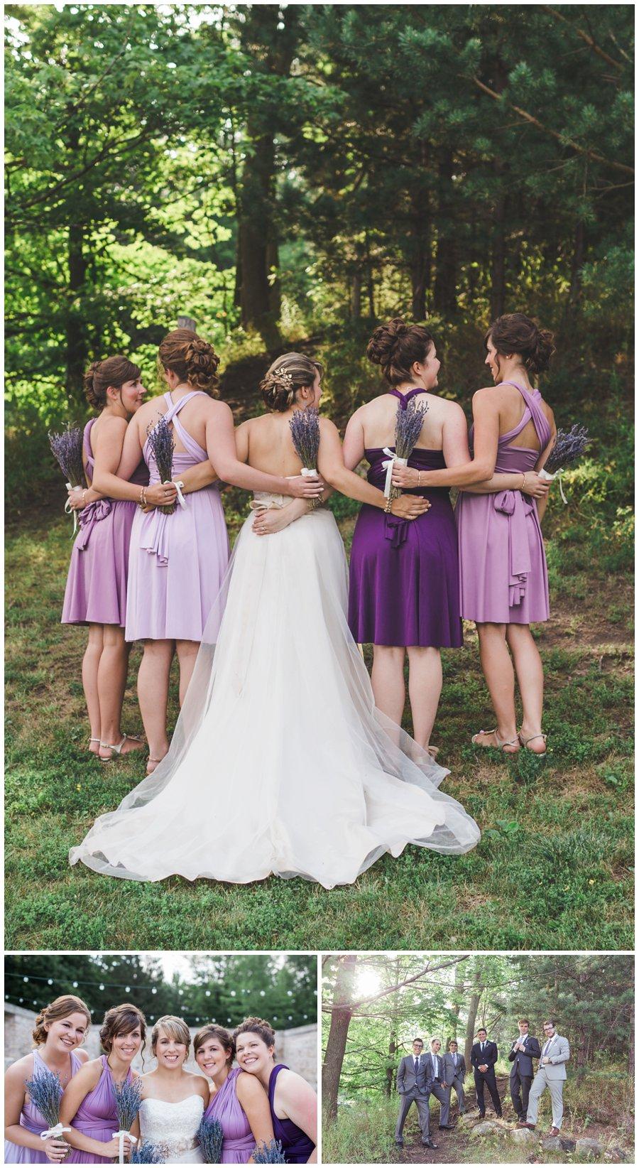 Bridesmaids in purple, Alton Mill