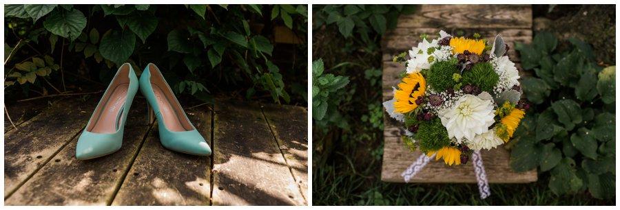Rustic wildflowers wedding bouquet