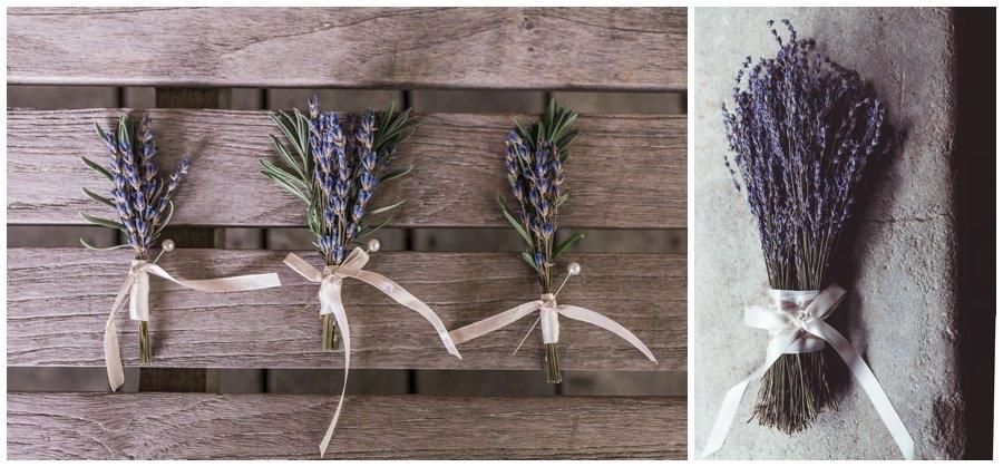 DIY lavender wedding decor