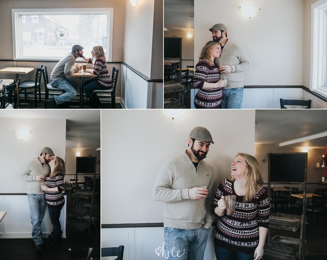 couple enjoying coffee in classique tottenham