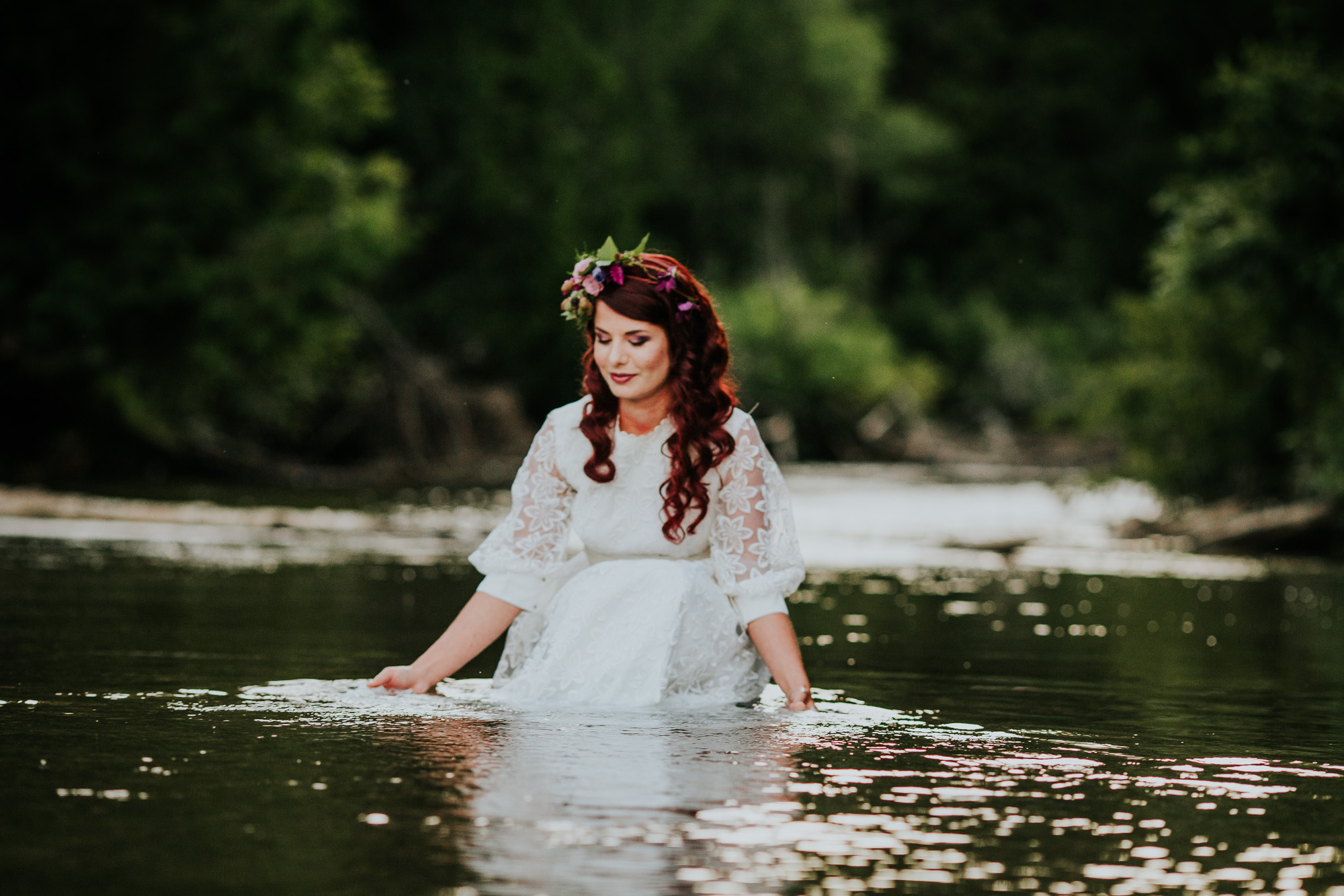 boho inspiration bridal in water ALliston photographer