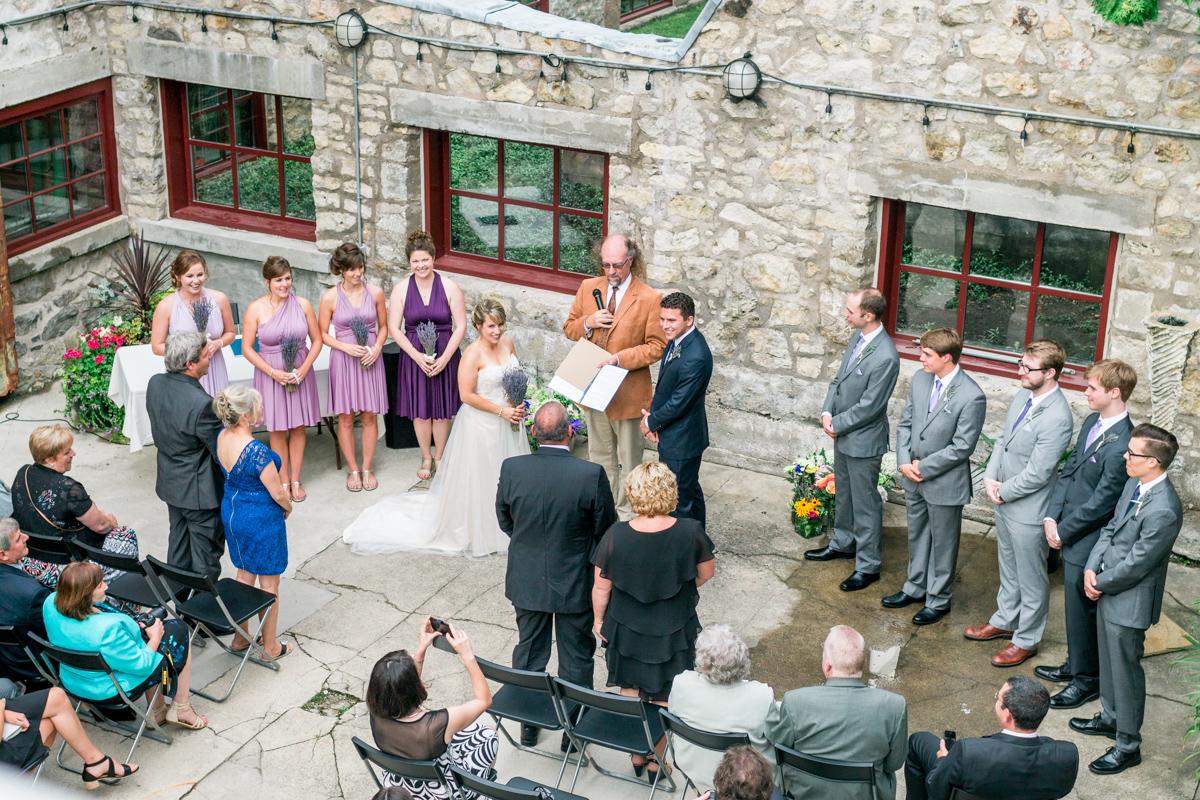alton mill wedding ceremony caledon ontario