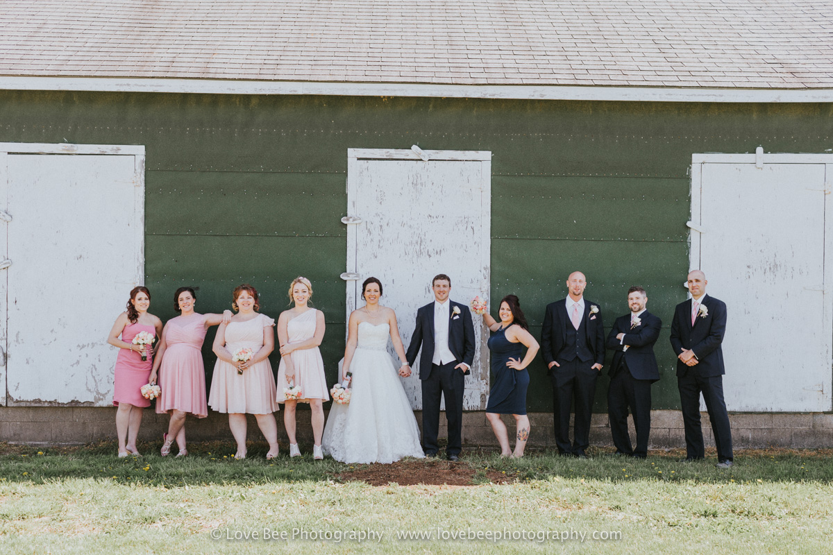 Great Lakes Farms Wedding Party Portraits
