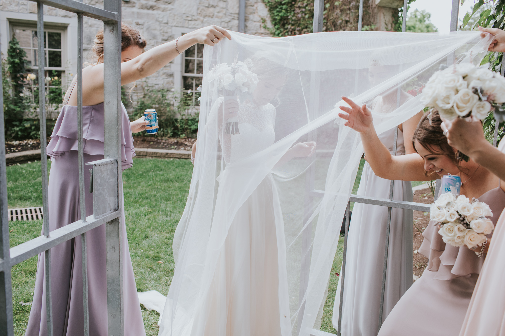 Note to Brides - Tulle equals mosquito net. Every time.