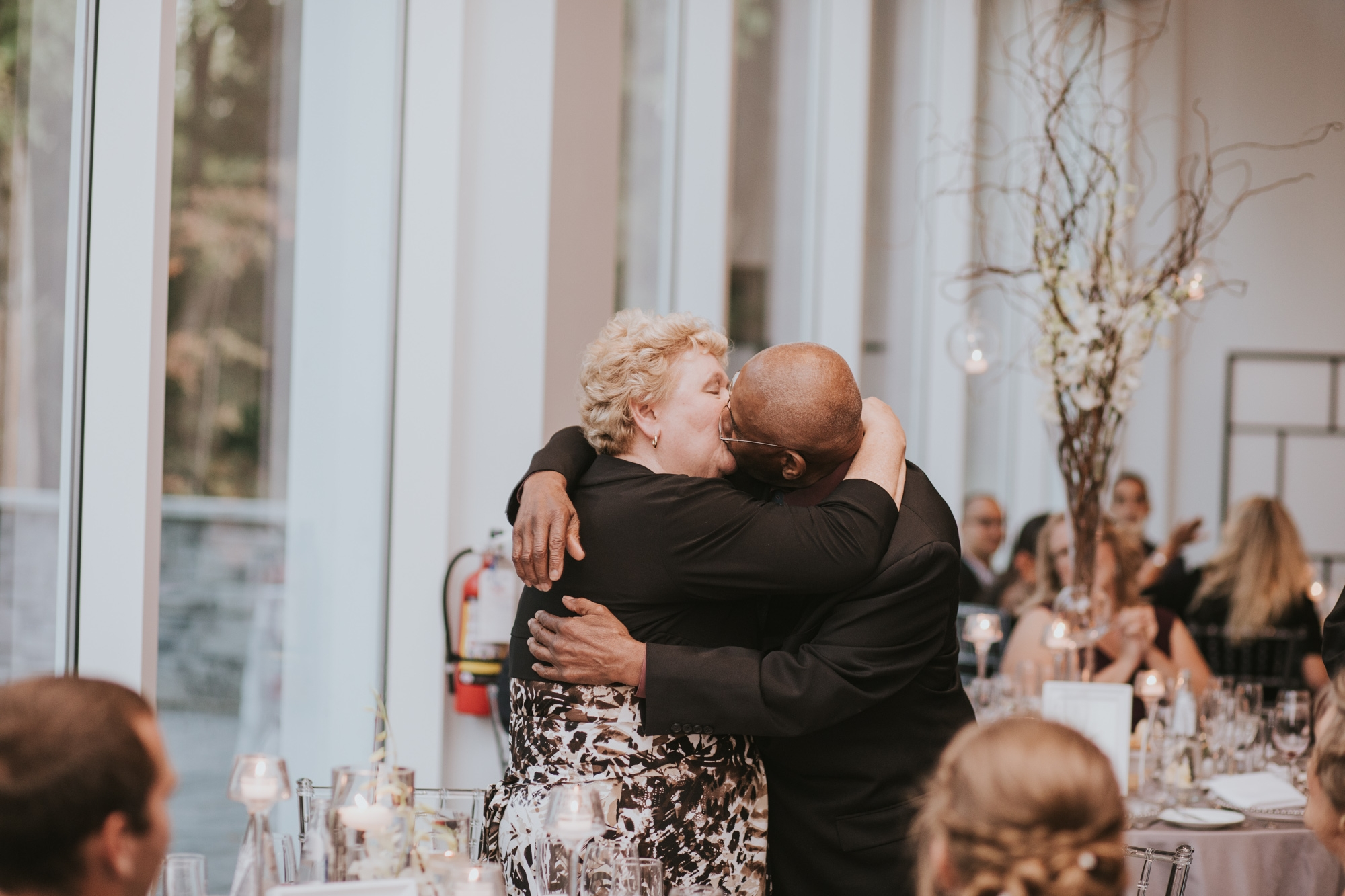 If you have been married the longest of all the wedding guests, you have to show the couple how to kiss. Its a rule.
