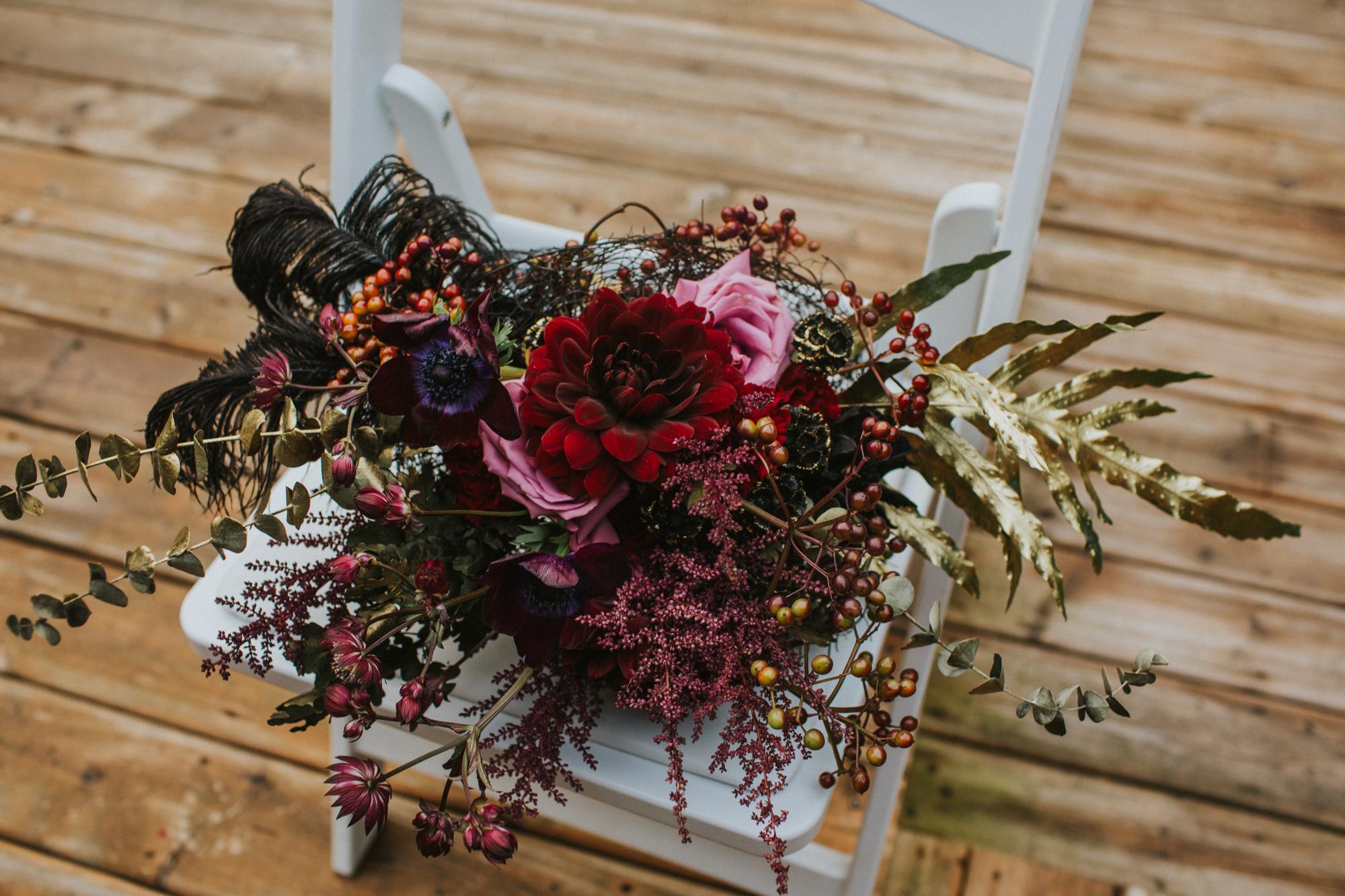 Halloween Inspired Wedding Florals by Seasons Floral Studio