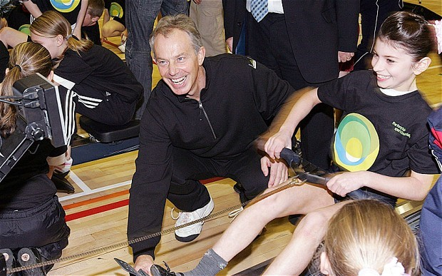 Tony Blair at the launch of his Sports Foundation in 2007