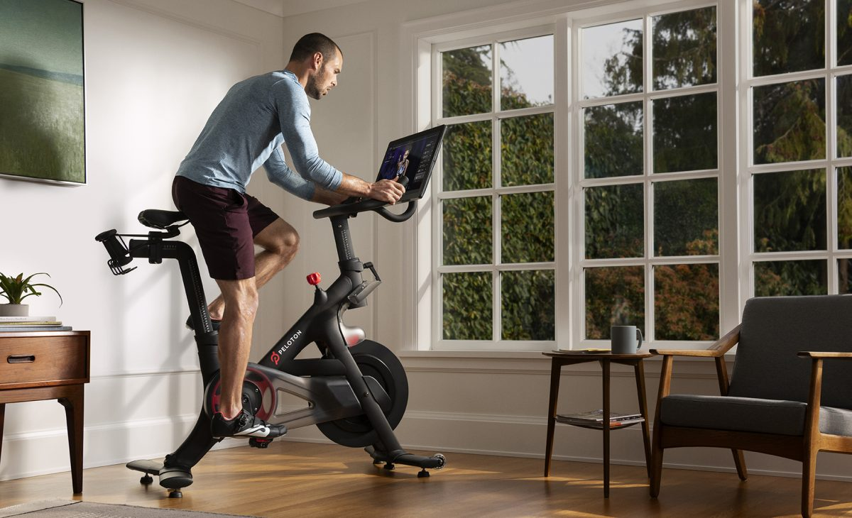 Peloton's initial product was its Bike, a smart stationary bicycle.